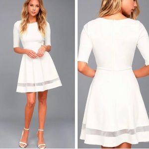 Lulu's white skater dress M
